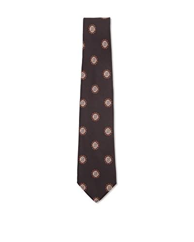 Kiton Men's Floral Tie, Black/Brown/Tan