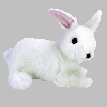 TY Classic Plush - BOWS the White Bunny - 1