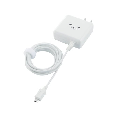 ELECOM Smartphone/Tablet for [Super quick charger: AC charging cable integrated type 1800 mA 1.5 m white MPA-ACMA1518WH