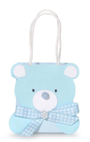 Darice Blue Bear 2-1/2 by 3-Inch Embellished