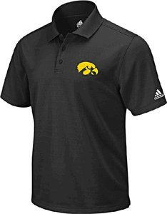 NCAA adidas Iowa Hawkeyes Primary Logo Performance Polo - Black (Medium) by adidas