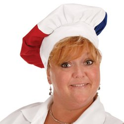 Oversized Fabric Chef's Hat (red, white, blue) Party Accessory  (1 count) (1/Pkg)