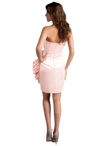 31KZjavI0fL Sale off: Emma Y Lady Womens Strapless Handmade Flower Short Dress