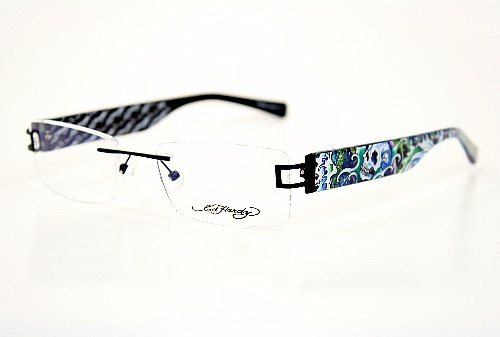 Ed Hardy Lites Eyeglasses Frames : ##Look Ed Hardy Lites EHL810 Eyeglasses EHL 810 Black BLK ...