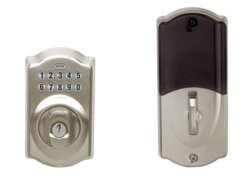 Schlage Link Wireless Keypad Add-On Deadbolt, Satin Nickel