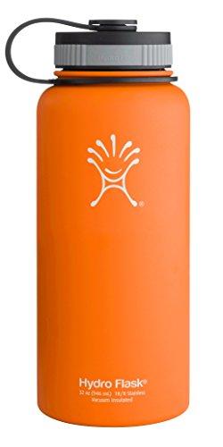 Hydro Flask Insulated Water Bottle (32 Oz. Orange Zest) front-1008181