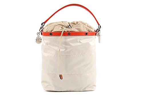 Moncler borsa donna a spalla shopping nylon nuova lea beige