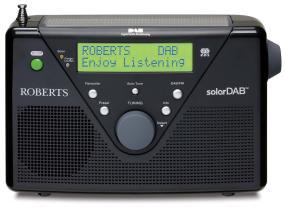 SolarDAB2 black DAB/FM solar powered radio