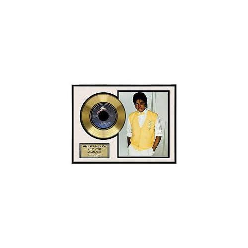 Michael Jackson Billie Jean Framed Gold Record