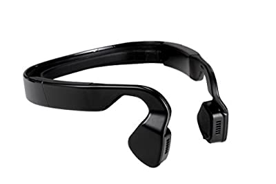 HNE Titanium Open Ear Wireless Bone Conduction Headphones Open Ear Stereo Headphones Bluetooth 4.1 Headset for Sports