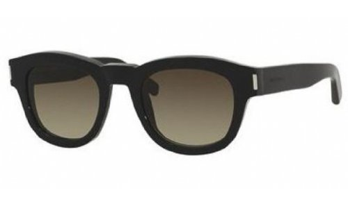 Yves Saint Laurent Yves Saint Laurent Bold 2/S Sunglasses-0807 Black (HA Brown Gradient Lens)-49mm