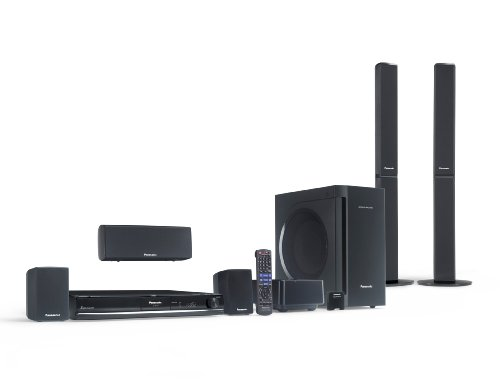 Panasonic SC-PT770 1000W 5DVD 5.1 Channel Home Theater System with Built-in iPod dock and front-to-rear-Wireless Rear Speakers