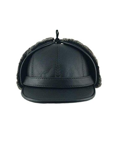 zavelio-mens-shearling-sheepskin-elmer-fudd-visor-hat-large-black