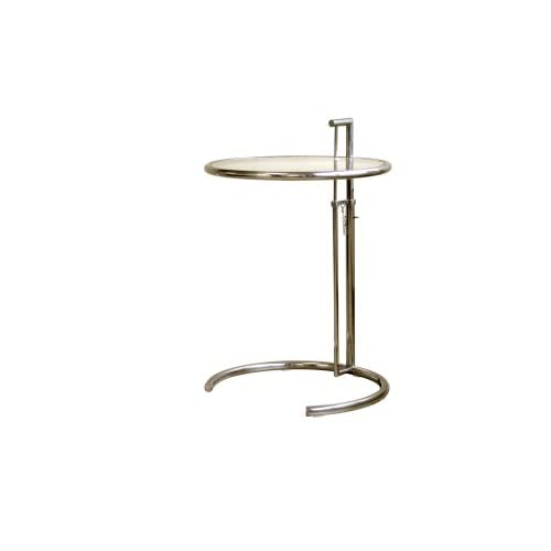 baxton studio eileen gray style stainless steel accent table. Black Bedroom Furniture Sets. Home Design Ideas