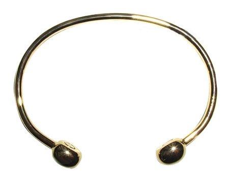 Magnetic Therapy Unisex Slim Gold Tone Bracelet 7.5
