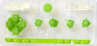 Sony PSP 1000 Series Button Set - Apple Green [customize] [repair part] [video game]