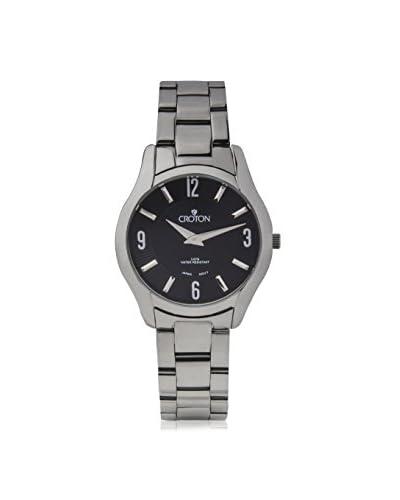 Croton Women's CN207501SSBK Black Stainless Steel Watch