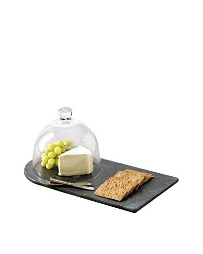Shiraleah Piedmont Slate Cheese Board with Cloche, Black