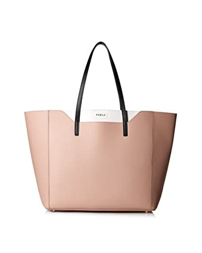 Furla Women's Fantasia M Tote East/West Vit. Stampa Ariel Double, Moonstone, One Size