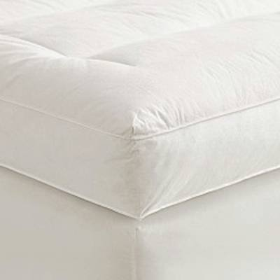 "Check Out This 4"" Queen Goose Down Mattress Topper Featherbed / Feather Bed Baffled"