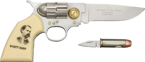 1 X Wyatt Earp Gun and Bullet Knife Set: Frontier Enthusiast