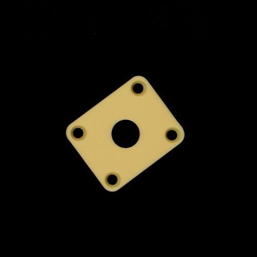 (D81) Plastic Output Jack Plate Cover For Epiphone Les Paul Guitar Cream
