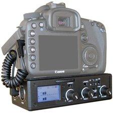BeachTek DXA-5Da Passive Dual XLR Audio Adapter for DSLR Cameras with Mic Jack,