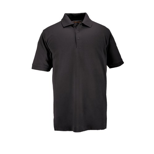 5.11 #41060T Short Sleeve Tall Professional Polo Shirt (Black, Large)