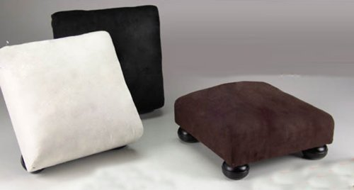 Paolo Rossi Footrest Padded With Velvet-Like Fabric Size 30X30X11 In Various Colours (Check Availability For Colours)