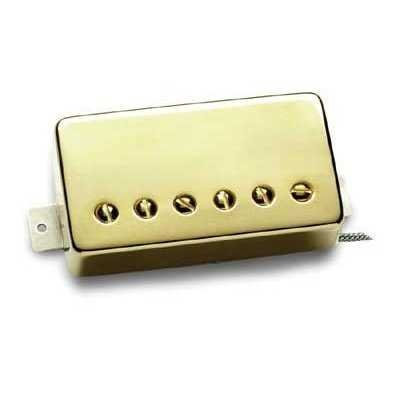 Seymour Duncan 59 Model Bridge Humb Nickel Cover - (Gold Cover, Neck Position)