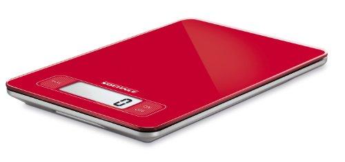 Soehnle 66152 Balance de Cuisine Plateau en Verre Page Rouge 5 kg à 1 g