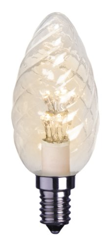 Best Season 337-31 Decoline Ersatzglühbirne LED, E14, 2100 K, verziert, Kerzenform, 230V