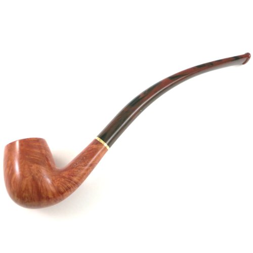 Savinelli Clark's Favorite Natural Tobacco Pipe (includes free pack of balsa filters)