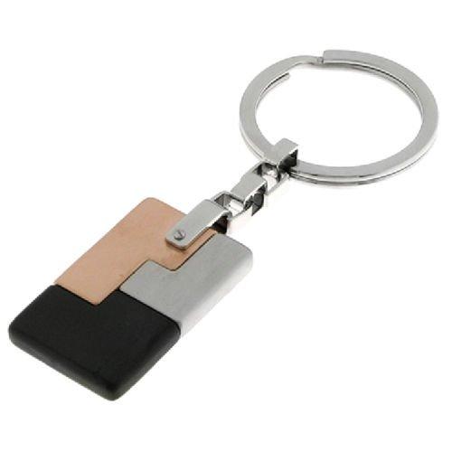 Portachiavi Chimento CH3PX7874ZZ7000 Acciaio inserto Oro Rosa PVD Nero Anello