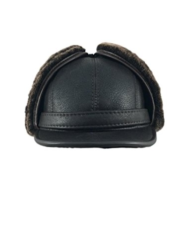 zavelio-mens-shearling-sheepskin-elmer-fudd-visor-hat-x-large-brown