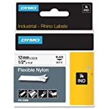 Dymo (18488) RhinoPRO Flexible Nylon Wire and Cable Label Tape for Rhino 6500, 6000, 5200