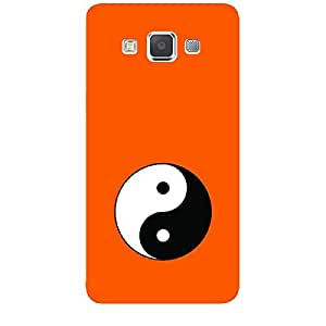 """Skin4gadgets Taoism Symbol """" Circle Divided in Tear Drop Halves"""" on English Pastel Color-Orange Phone Skin for SAMSUNG GALAXY A5 (A5000)"""