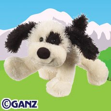 Webkinz Black and White Cheeky Dog - 1