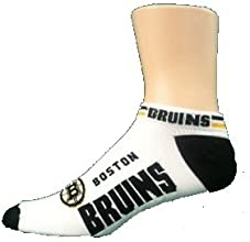 Boston Bruins 529 Ankle Socks in White for Men size Large