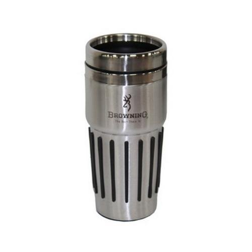 Browning Stainless Mug With Rubber Grip Bottom, Silver
