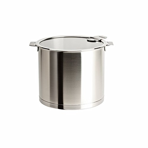 Cristel Strate L Stainless Steel 5.5 Quart Stockpot with Flat Glass Lid