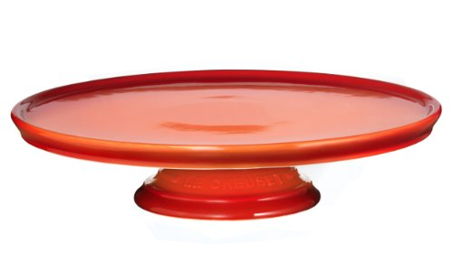 Le Creuset Stoneware Dessert/Cake Stand, Flame
