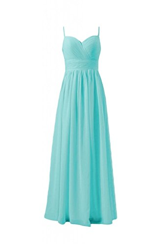 Daisyformals Long Spaghetti Straps Bridesmaid Formal Dress(Bm29023)- Tiffany Blue