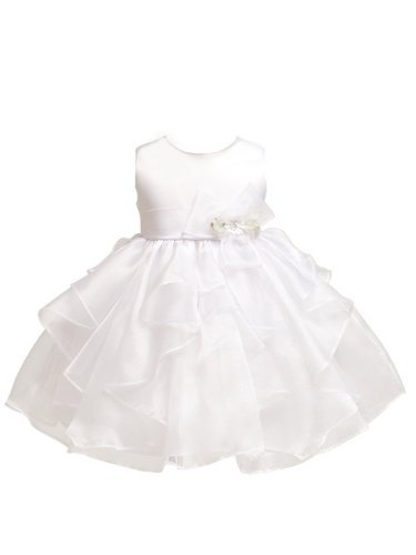 Kid Collection Baby-Girls Layered Ruffle Skirt Dress 6M Sm Wht (Kid B808)