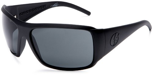 Electric Crossover Sungles Matte Black Frame Grey Lens One Size