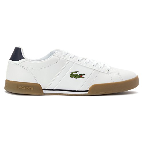 pictures of Lacoste Men's Deston HCR White/Tan 11 M US