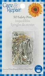 Dritz Safety Pins Assorted Sizes 50/Pkg 9602D; 6 Items/Order