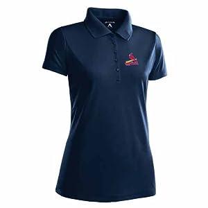 St Louis Cardinals Ladies Pique Xtra Lite Polo Shirt (Alternate Color) by Antigua