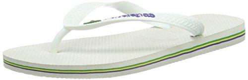 Havaianas Brasil Logo, Infradito, Unisex-adulto, Bianco (White), 41/42 EU (39/40 BR)