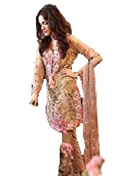 Shree Ganesh Women's Georgette Unstitched Dress Materials [D73]